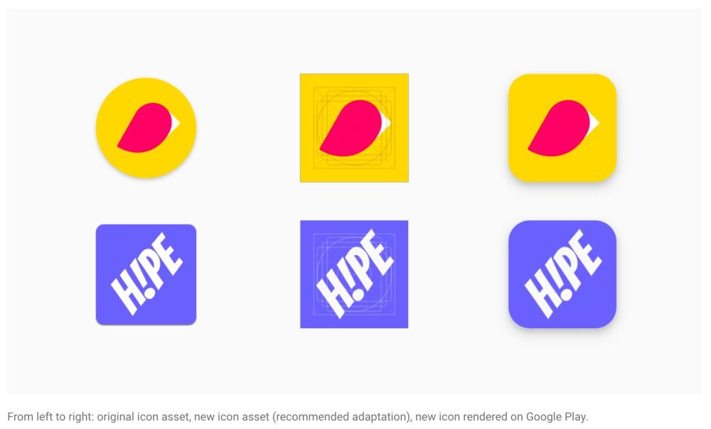Google開始要求開發者重新調整app圖示 將使Play Store視覺設計統一