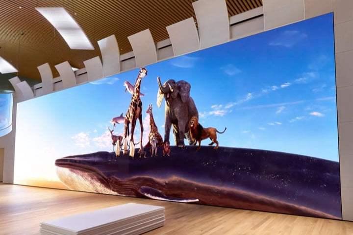 Sony展示16K 780寸大屏幕:基于Micro LED技术,最大亮度100nits、120fps刷新率!