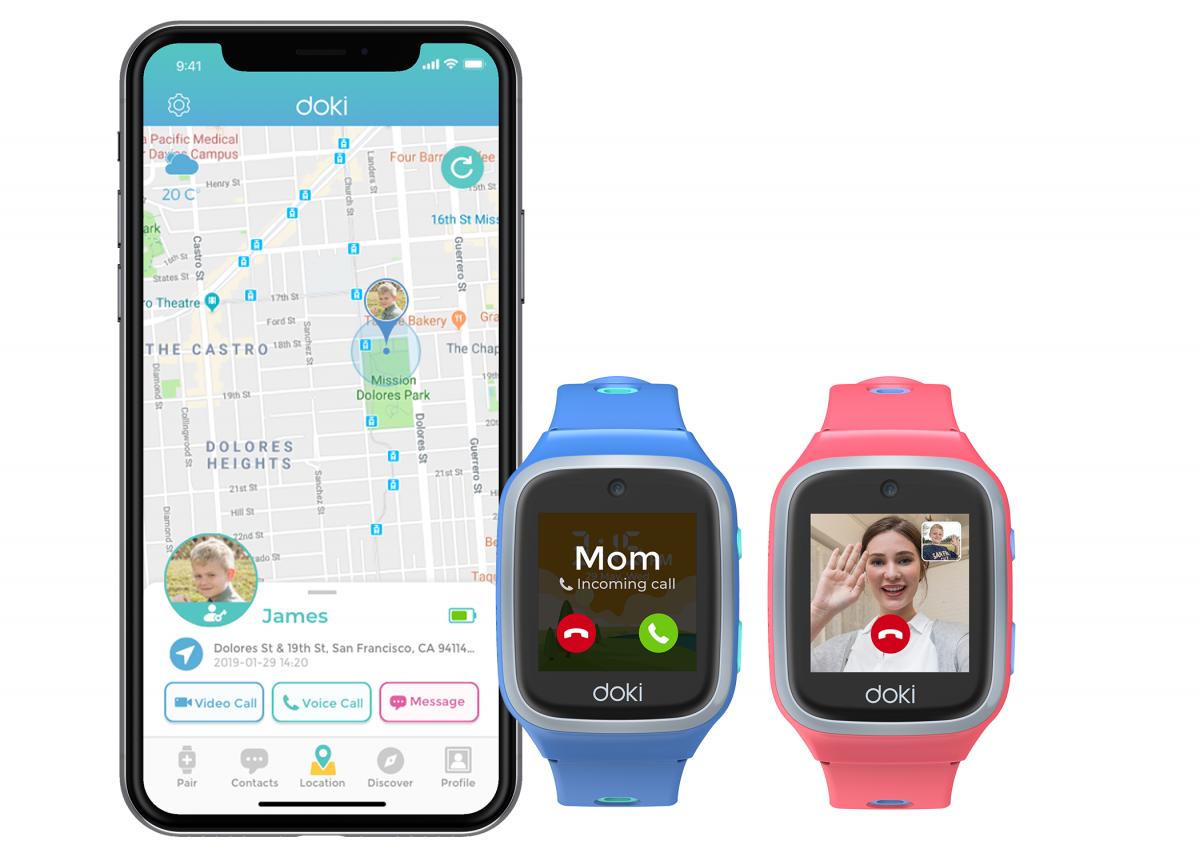 Doki推出2019最新全球適用兒童4G智慧手錶dokiPal