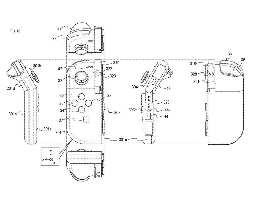 任天堂申請可彎折使用的Joy-Con控制器設計專利